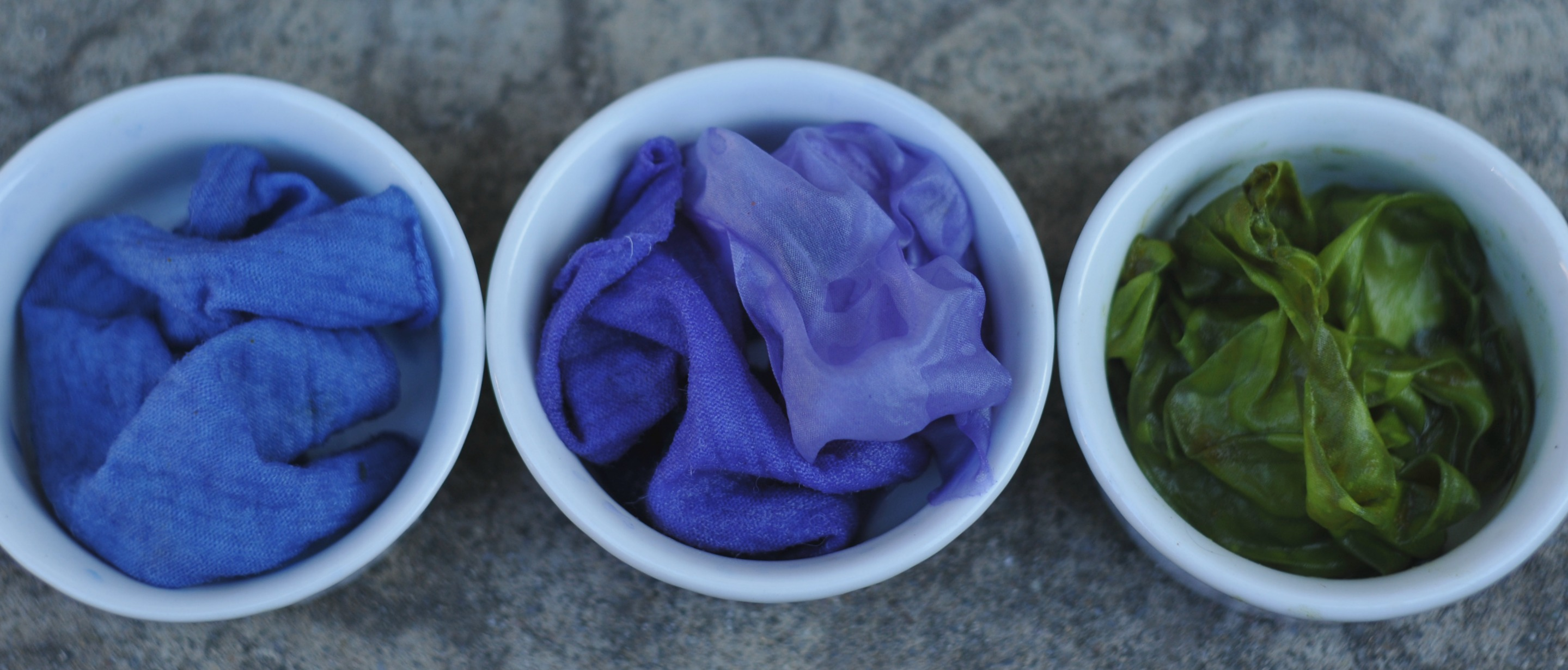 Blue Violet And Green Obovate Designs